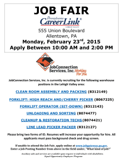 JOB FAIR - Careerlink Lehigh Valley