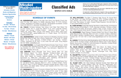Classified Ads - Model Railroader