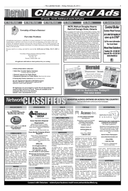 Classified Ads - Lakefield Herald
