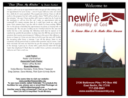 view the latest bulletin - New Life Assembly of God