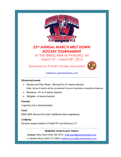 23rd ANNUAL MARCH MELT DOWN HOCKEY TOURNAMENT