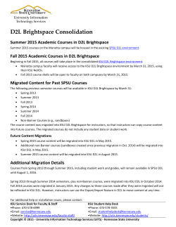 D2L Brightspace Consolidation