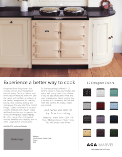AGA TC3 - Experience a better way to cook.indd