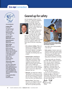 Geared up for safety - Mid-Carolina Electric Cooperative
