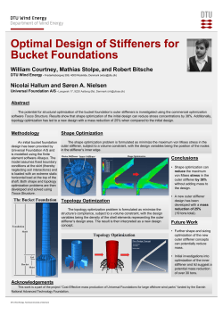 Optimal Design of Stiffeners for Bucket Foundations