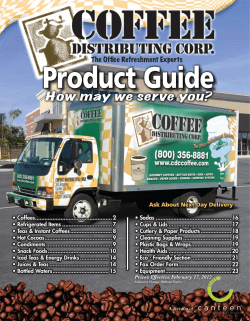 PDF - Coffee Distributing Corp.
