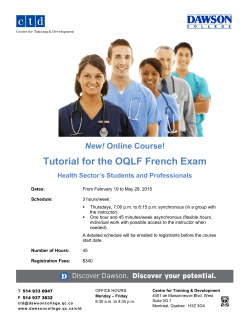 Tutorial for the OQLF French Exam