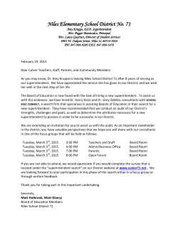 Superintendent Search Focus Group Invite