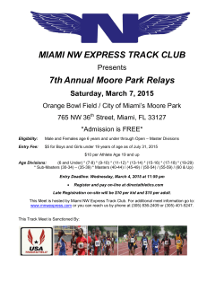 Event Flyer - Miami Northwest Express Track Club