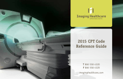 2015 CPT Code Reference Guide - Imaging Healthcare Specialists