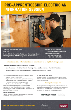 Pre-apprenticeship Electrician Information Session