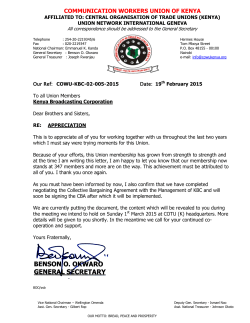 COMMUNICATION WORKERS UNION OF KENYA