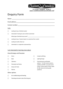 Enquiry Form - Custom Coasters Australia