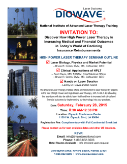 INVITATION TO: - Diowave Laser