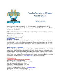 Peak Performer`s and Friends Weekly Email