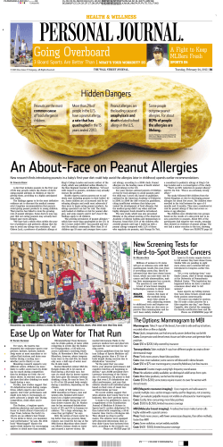 An About-Face on Peanut Allergies