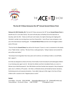 The Ace & TJ Show Announce the 18th Annual Second Chance Prom