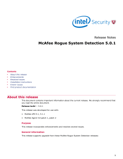 Rogue System Detection 5.0.1 Release Notes