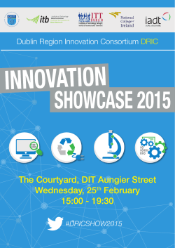 The Courtyard, DIT Aungier Street Wednesday, 25th February 15:00