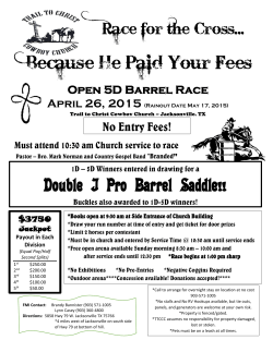 Because He Paid Your Fees - Trail To Christ Cowboy Church