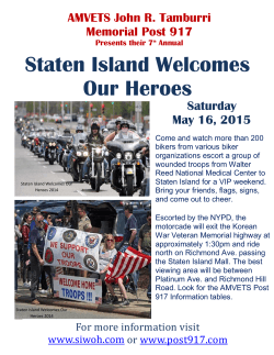 Staten Island Welcomes Our Heroes 2015 Flyer