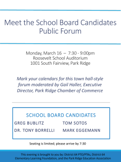 Meet the School Board Candidates