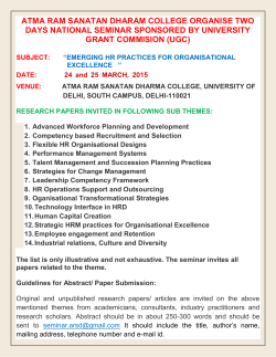 National Seminar Commerce by UGC