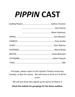 cast list - ETHS Theatre