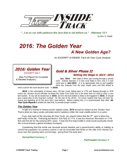 2016: The Golden Year