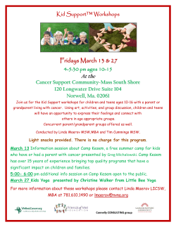 Fridays March 13 & 27 - Cancer Support Community, Massachusetts