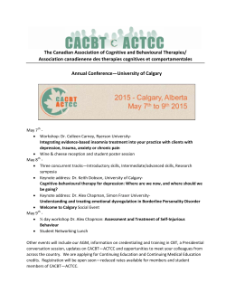Save the Date - Psychologists` Association of Alberta