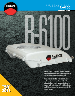New R-6100 Rooftop A/C Unit