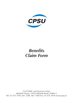 CPSU claim form - Mayo Dental Clinic