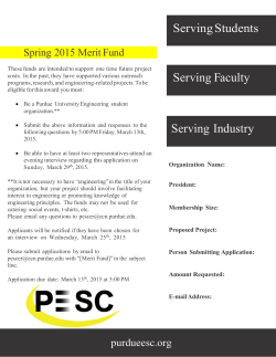 Merit Fund Application - Purdue Engineering Student Council