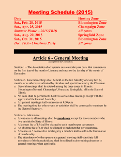 Meeting Schedule (2015) - Nwanne Di Na Mba Association