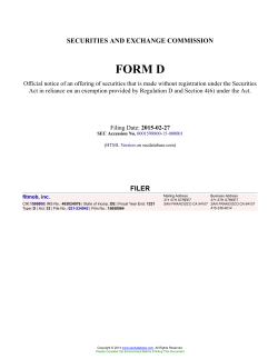 fitmob, inc. Form D Filed 2015-02-27