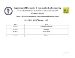 Final Schedule - Annamacharya Institute of Technology & Sciences