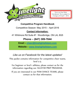 2015-2016 Competitive Program Handbook