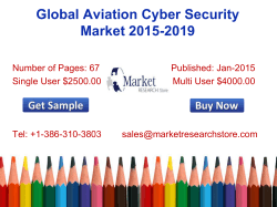 Global Aviation Cyber Security Market 2015-2019