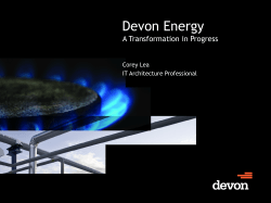 Devon Energy - Red Hat Forum Calgary Thank You For Attending