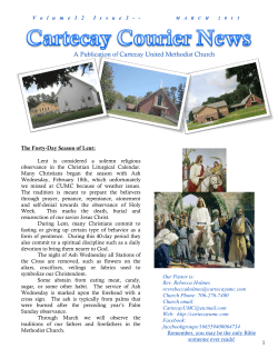 Our Newsletter - Cartecay United Methodist Church