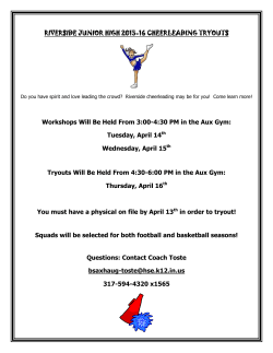 2015-2016 RJH Cheerleading Tryouts