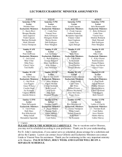 lector/eucharistic minister assignments