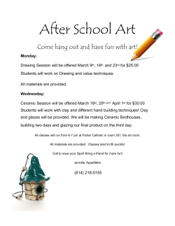 March After School Art Flyer