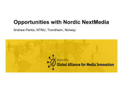 Innovation opportunities with Nordic NxtMedia