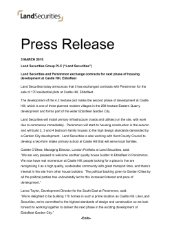 Press Release - Land Securities