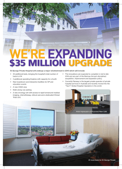 $35 MILLION UPGRADE - St George Private Hospital