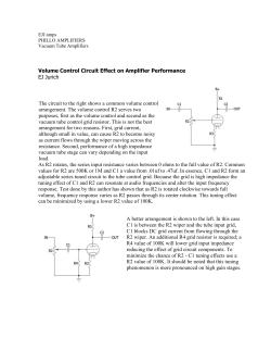 Volume Control Circuit Effect on Amplifier Performance