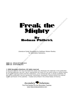 Freak the Mighty Sample Pages