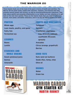 2. Warrior20 Shopping List-5